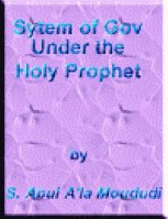 System of Government under the Holy Prophet