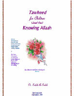 Tawheed for Children Knowing Allah