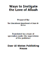 Ways to instigate the Love of Allah