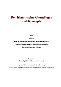 Der Islam – seine Grundlagen und Konzepte