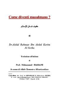 Come diventi musulmano