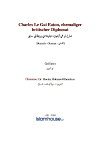 Charles Le Gai Eaton, ehemaliger britischer Diplomat