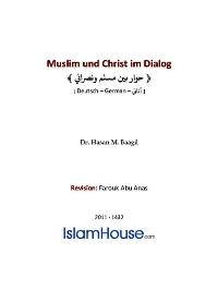 Muslim und Christ im Dialog