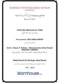Beberapa Nasehat Untuk Keluarga Muslim