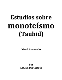 Estudios sobre monoteísmo (Tauhid)