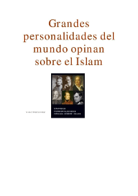 Grandes personalidades del mundo opinan sobre el Islam