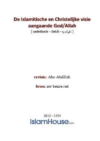 De Islamitische en Christelijke visie aangaande God