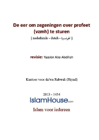 De eer om zegeningen over profeet (vzmh) te sturen