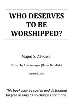 Who Deserves to be Worshipped?