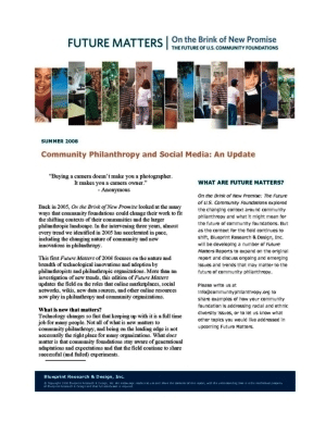 Report cover : Community Philanthropy and Social Media