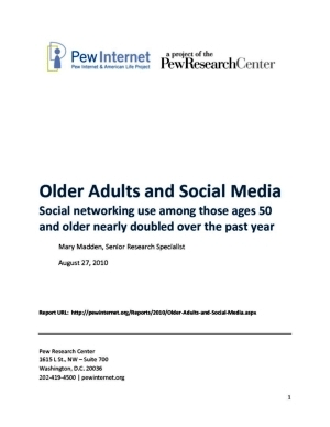 Book cover: Older Adults and Social Media