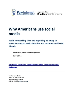 Book cover: Why Americans Use Social Media