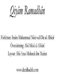 Qiyam Ramadhan
