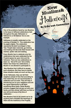 New Muslims and Halloween (Poster)