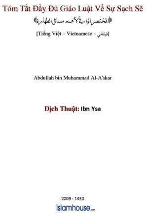 Book cover: Tóm Tắt Đầy Đủ Giáo Luật Về Sự Sạch Sẽ