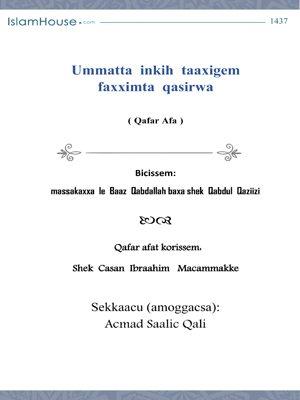 Ummatta inkih taaxigem faxximta qasirwa