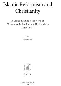 Islamic Reformism and Christianity