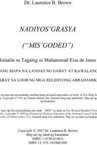 """Nadiyos' Grasya (""""MIS'GODED"""")"""