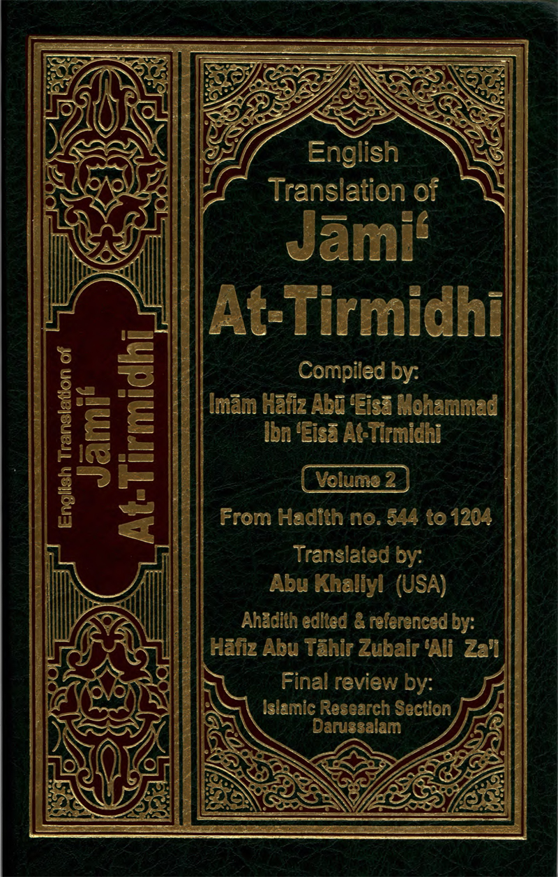 English Translation of Jami' At-Tirmidhi Volume 2