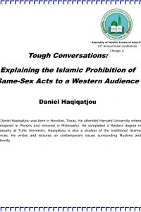 Tough Conversations: Explaining the Islamic Prohibition of Same-Sex Acts to a Western Audience