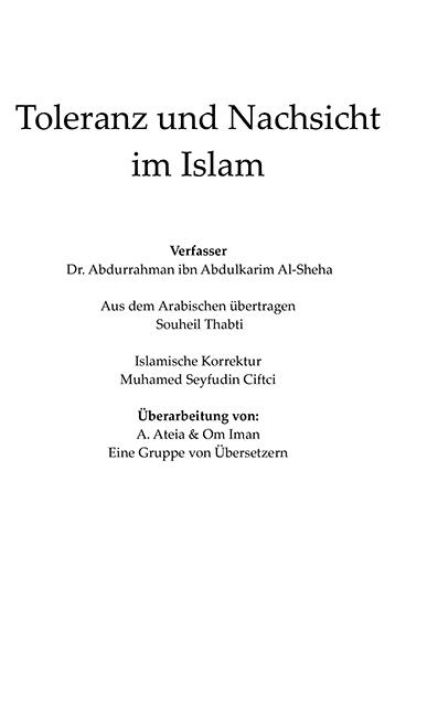Toleranz und Nachsicht im Islam