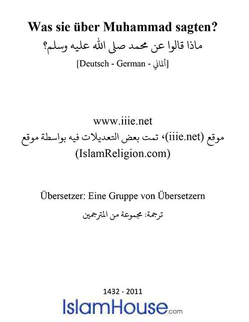 Was sie über Muhammad sagten