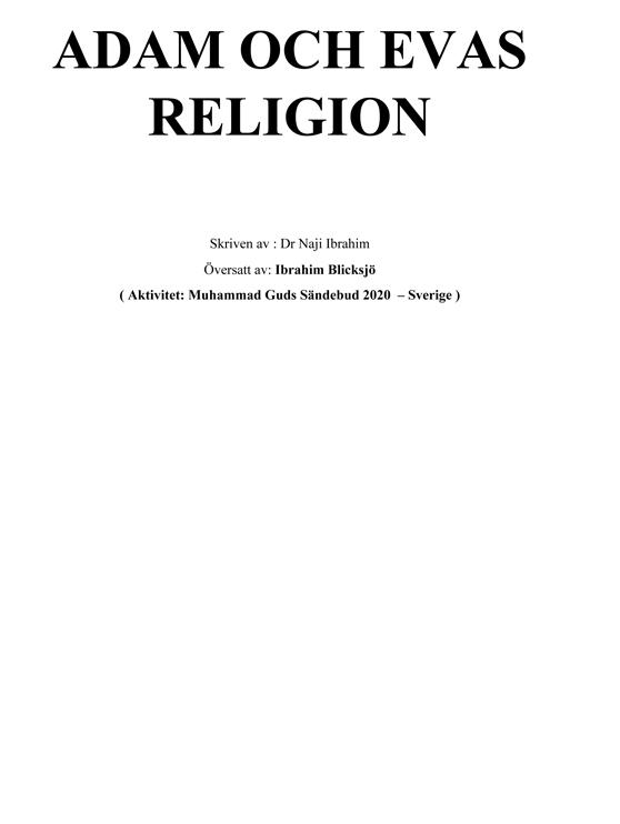 ADAM OCH EVAS RELIGION